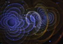 An artist's rendition of a gravitational wave